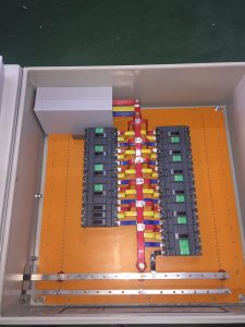 Outgoing compartment busbar open