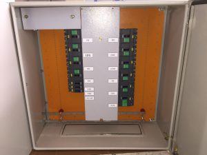 Outgoing compartment busbar covered