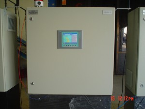 Front view of panel